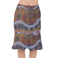 Aboriginal Traditional Pattern Mermaid Skirt