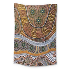 Aboriginal Traditional Pattern Large Tapestry