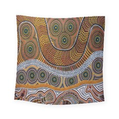 Aboriginal Traditional Pattern Square Tapestry (Small)