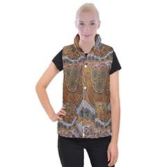 Aboriginal Traditional Pattern Women s Button Up Puffer Vest