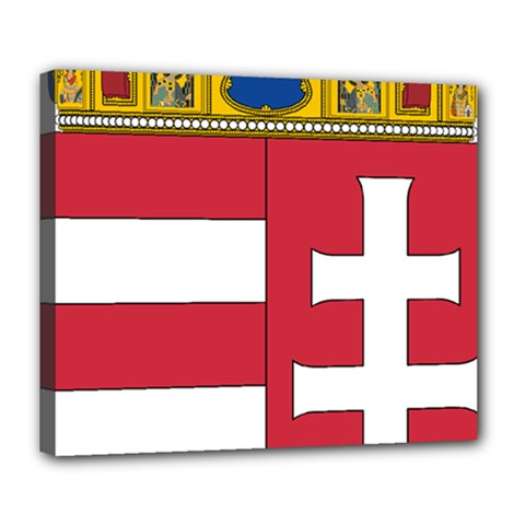 Coat of Arms of Hungary Deluxe Canvas 24  x 20