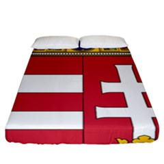 Coat of Arms of Hungary Fitted Sheet (California King Size)