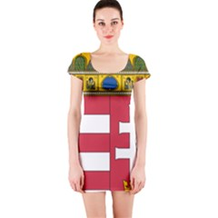 Coat of Arms of Hungary Short Sleeve Bodycon Dress