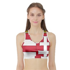Coat of Arms of Hungary Sports Bra with Border