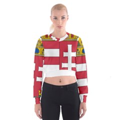 Coat of Arms of Hungary Cropped Sweatshirt