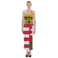 Coat of Arms of Hungary Fitted Maxi Dress