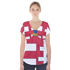 Coat of Arms of Hungary Short Sleeve Front Detail Top