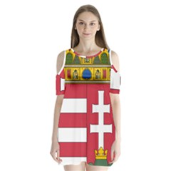 Coat of Arms of Hungary Shoulder Cutout Velvet  One Piece
