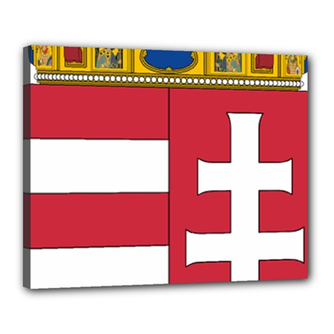Coat of Arms of Hungary  Canvas 20  x 16