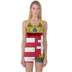 Coat of Arms of Hungary  One Piece Boyleg Swimsuit
