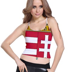 Coat of Arms of Hungary  Spaghetti Strap Bra Top