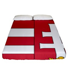 Coat of Arms of Hungary  Fitted Sheet (Queen Size)