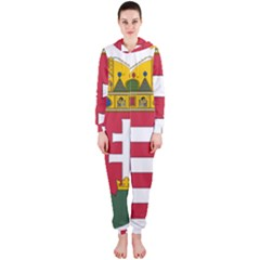 Coat of Arms of Hungary  Hooded Jumpsuit (Ladies)