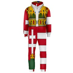 Coat of Arms of Hungary  Hooded Jumpsuit (Men)