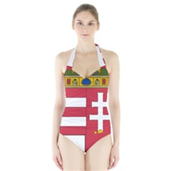 Coat of Arms of Hungary  Halter Swimsuit