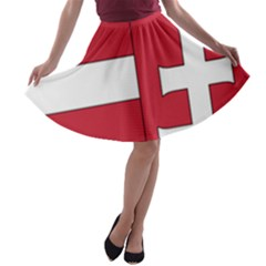 Coat of Arms of Hungary  A-line Skater Skirt