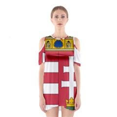 Coat of Arms of Hungary  Shoulder Cutout One Piece