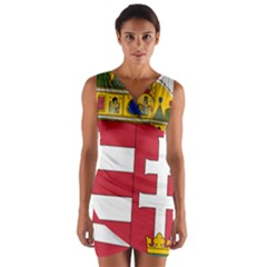Coat of Arms of Hungary  Wrap Front Bodycon Dress