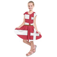 Coat of Arms of Hungary  Kids  Short Sleeve Dress