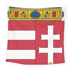 Coat of Arms of Hungary  Square Tapestry (Large)