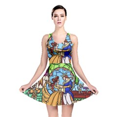 Happily Ever After 1   Beauty And The Beast Reversible Skater Dress