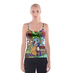 Happily Ever After 1   Beauty And The Beast Spaghetti Strap Top
