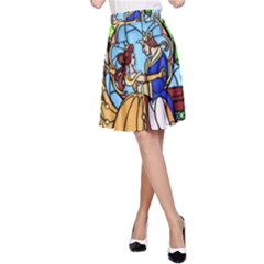 Happily Ever After 1   Beauty And The Beast A-Line Skirt
