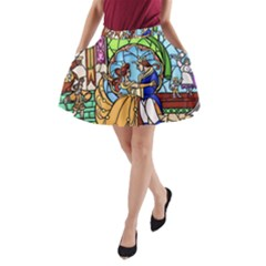 Happily Ever After 1   Beauty And The Beast A-Line Pocket Skirt