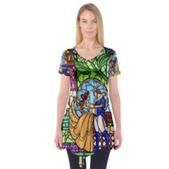 Happily Ever After 1   Beauty And The Beast Short Sleeve Tunic