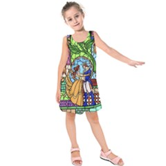 Happily Ever After 1   Beauty And The Beast Kids  Sleeveless Dress