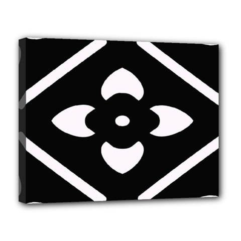 Black And White Pattern Background Canvas 14  X 11