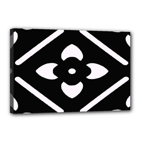 Black And White Pattern Background Canvas 18  x 12