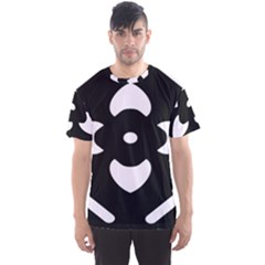 Black And White Pattern Background Men s Sport Mesh Tee
