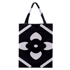 Black And White Pattern Background Classic Tote Bag