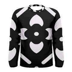 Black And White Pattern Background Men s Long Sleeve Tee