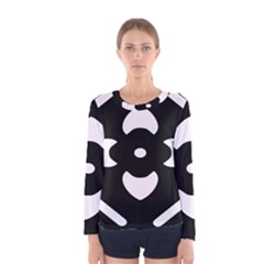 Black And White Pattern Background Women s Long Sleeve Tee