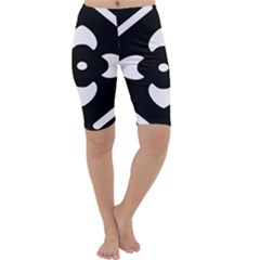 Black And White Pattern Background Cropped Leggings