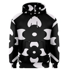Black And White Pattern Background Men s Pullover Hoodie