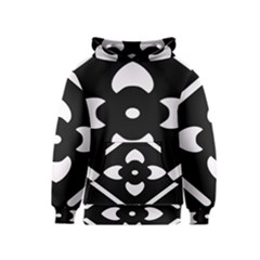 Black And White Pattern Background Kids  Pullover Hoodie