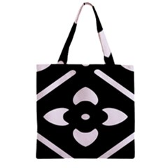 Black And White Pattern Background Zipper Grocery Tote Bag