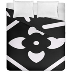 Black And White Pattern Background Duvet Cover Double Side (california King Size)