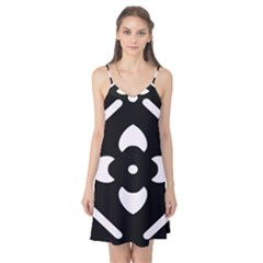Black And White Pattern Background Camis Nightgown