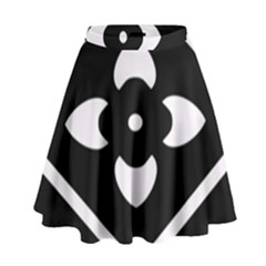 Black And White Pattern Background High Waist Skirt