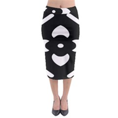 Black And White Pattern Background Midi Pencil Skirt