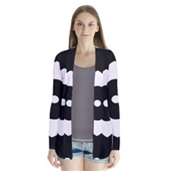 Black And White Pattern Background Cardigans