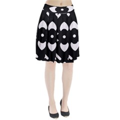 Black And White Pattern Background Pleated Skirt