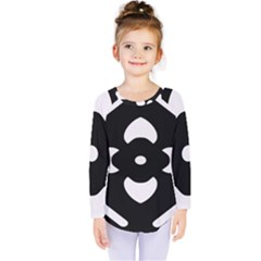 Black And White Pattern Background Kids  Long Sleeve Tee