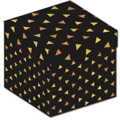 Shapes Abstract Triangles Pattern Storage Stool 12
