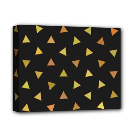 Shapes Abstract Triangles Pattern Deluxe Canvas 14  X 11