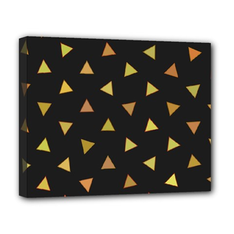 Shapes Abstract Triangles Pattern Deluxe Canvas 20  X 16